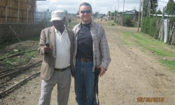 Wayne King meets with Ato Melese in Harbu Chulule