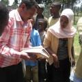 Development team working with Ethiopian children
