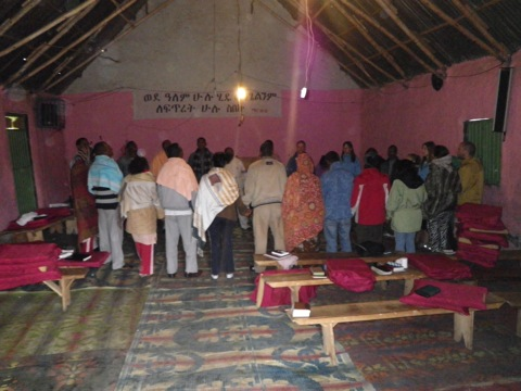 We joined the prayer team in the local church to pray for the community and for the projects that Hopethiopia has planned for the future