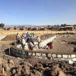 The Volunteer Home foundation being built