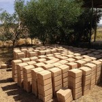 Thousands of bricks have been produced and are ready to be used in our construction projects