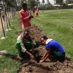 All students were able to plant about 5 seedlings each. About 50 trees were planted that day.