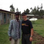 The Principal of the Preparatory school, Birhanu, stands for a picture with Ralph, one of the directors of Hopethiopia.