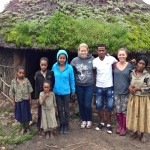 The team visits some of the Hopethiopia sponsored families