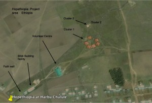 Satellit view of the north project lands